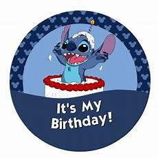 it s my birthday lilo stitch by mickeysbuttons on etsy