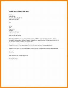Letter Of Absence 9 Official Letter For Leave Examples Pdf Examples