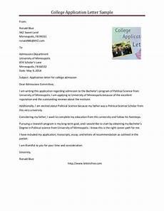 College Application Cover Letter Sample Sample College Application Letter