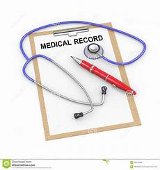 Medical Chart Cartoon 3d Stethoscope And Medical Record Royalty Free Stock