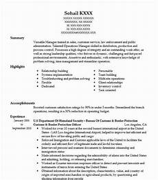 Resume For Customs And Border Protection Officer Customs And Border Protection Officer Resume Example Cbpo