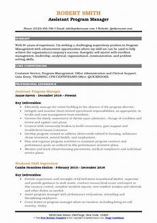 Clinical Trial Manager Resume Assistant Program Manager Resume Samples Qwikresume