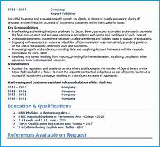 Admin Cv Examples Uk Word Cv Template Uk Format 10 Industries All Career Levels