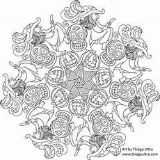 halloween mandala coloring pages mandala halloween 2 free coloring pages free coloring