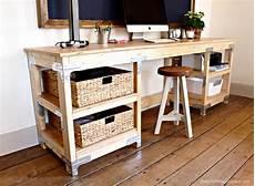 diy desk workbench white