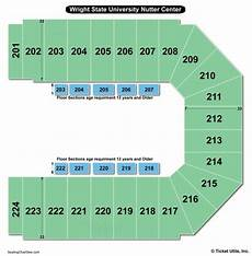 Wright Center Samford Seating Chart Wright State University Nutter Center Seating Chart