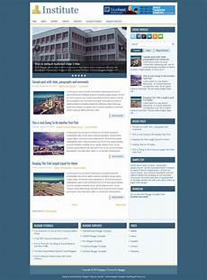 Institute Website Templates Free Download Institute Blogger Template Free Download Themewide