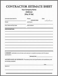 Contractor Quote Form General Contractor Checklist Template Fresh 44 Free