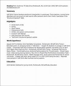 Sample Of Skills 1 Soft Skills Trainer Resume Templates Try Them Now