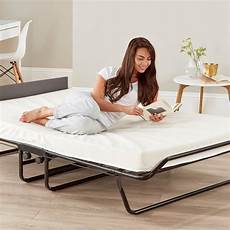 be visitor folding guest bed with memory foam mattress