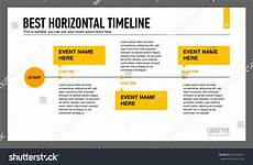 Horizontal Timeline Template Best Horizontal Timeline Template 1 Stock Vector 373699231