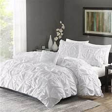 ruched bedding set king size bed white duvet cover shams