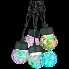 Gemmy Lightshow 8 Kaleidoscope Projection String Light Bulbs Lightshow 8 Light Multi Color Round Projection String