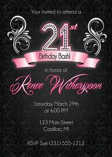 21 Bday Invites 21st Birthday Invitation 21st Birthday Party Invitation