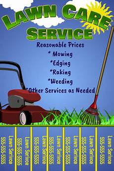 Lawn Mower Flyers Lawn Care Flyer W Tabs Template Postermywall