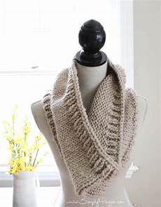 chunky tri style knit cowl pattern free simplymaggie
