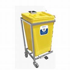 Soclean Yellow Light Waste Collection Bins Bulk Waste Collection Trolleys