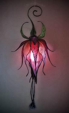 Silk Flower Lights Wild Fuchsia Silk Flower Lantern Flower Lamp Fairy Lamp