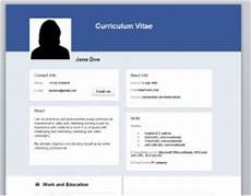 Facebook Resume Template Facebook Cv Resume Word Template Documents And Forms