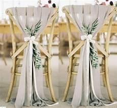 2019 popular fashion wedding chair sashes choose color