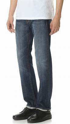 7 For All Mankind Men S Jeans Size Chart Lyst 7 For All Mankind Standard Straight Leg Jeans In