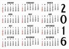 How To Make A 12 Month Calendar In Word 12 Month Calendar 2016 Free Stock Photo Public Domain