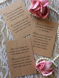 Wedding List Poems 25 50 Wedding Gift Money Poem Small Cards Asking For