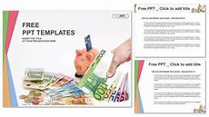 Money Powerpoint Templates Free Piggy Bank With Money Finance Powerpoint Templates
