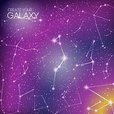 Star Constellation Designs Abstract Galaxy Background With Star Constellations