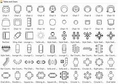 Floor Plan Symbol Symbols For Floor Plan Tables And Chairs