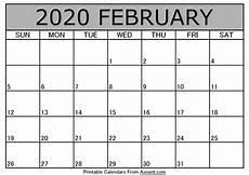 Printable February 2020 Calendar Template Time