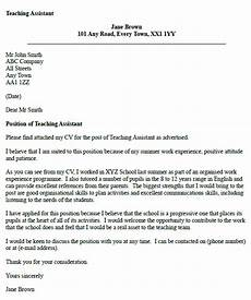 Cover Letter Example For Assistant Teaching Assistant Cover Letter Example Icover Org Uk