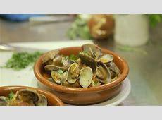 Clams with jamón and sobrasada   Spanish recipes   SBS Food