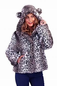 animal coats womens leopard print coat new faux fur hooded