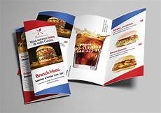 Food Brochure Templates Fast Food Menu Trifold Brochure Brochure Templates