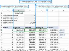 Loan Amortisation Table Excel Create A Loan Amortization Schedule In Excel With Extra
