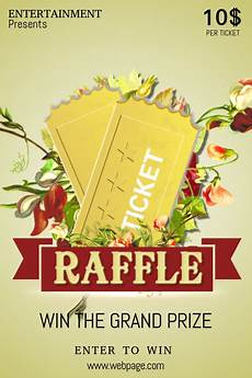 Raffle Ticket Poster Ideas Raffle Ticket Event Poster Template Postermywall