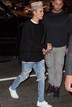 Justin Bieber Light Blue Jeans 2019 Justin Bieber Jeans Ripped Jeans Black And Blue Rock