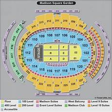 Square Garden Seating Chart With Seat Numbers For Concerts Square Garden Seating Chart With Seat Numbers