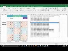 Solver Excel Macro Vba Tool Excel Macro Sudoku Solver Youtube