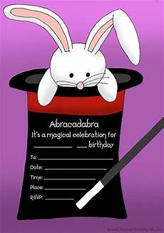 Magic Themed Birthday Invitations Free Birthday Invitations To Print For Kids Choose Your Theme