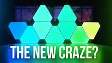 Leaf Tile Lights Nanoleaf Aurora Rgb Light Panels New Craze Youtube