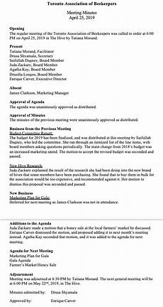 Minutes For Meetings How To Write Effective Meeting Minutes With Templates And