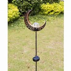 Solar Powered Stake Lights Homeimpro Garden Solar Lights Pathway Outdoor Moon Crackle