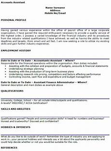 Finance Assistant Cv Accounts Assistant Cv Example Lettercv Com
