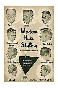 Barber Shop Haircut Styles Chart Vintage Ad Modern Hair Styling Chart Barbershop Haircut