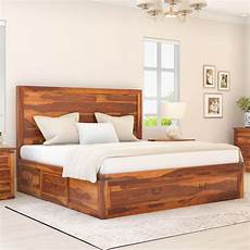 classic shaker solid wood storage platform captain s bed