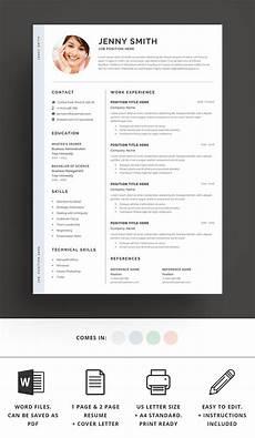 Clean Resume Template Word Resume Template Word Modern Clean Cv Resume Templates