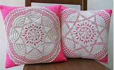 uncinetto cuscini coppia cuscini arredo copricuscini stelle uncinetto