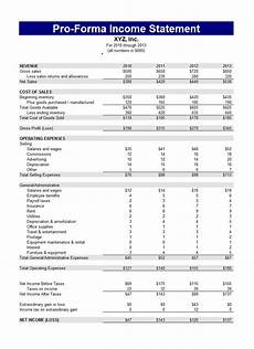 Pro Forma Profit And Loss Statement Template 27 Free Income Statement Examples Amp Templates Single